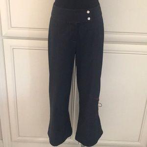 Motys Collection Pants, Capri,Black,36 French